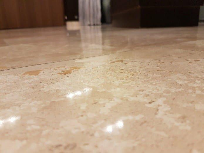 vyčištění - čištění mramoru, krystalizace mramoru